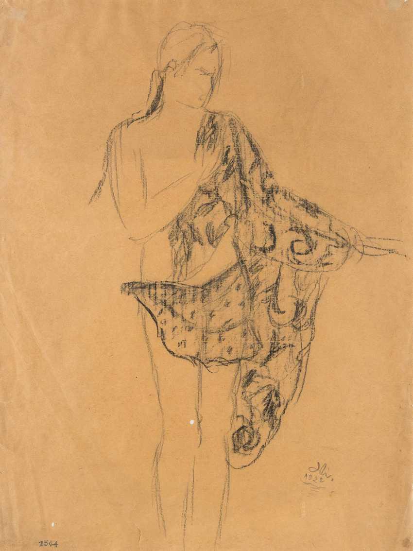 UNKNOWN DRAUGHTSMAN 1. Half of the 20. Century. Veil dancer - photo 1