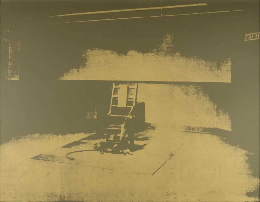 ANDY WARHOL (NACH) 1928 Pittsburgh - 1987 New York. ELECTRIC CHAIR - photo 1