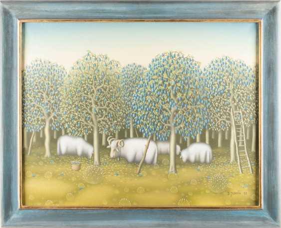 DURO JANCIC 1934 Zagbreb. SHEEP IN THE PLUM GARDEN - photo 2