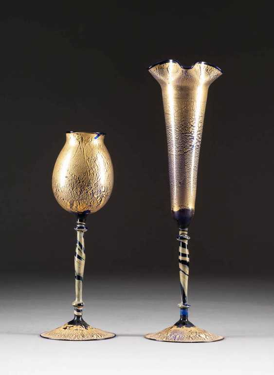 PAIR OF GOBLETS. Execution: Probably English, 1986 - photo 1