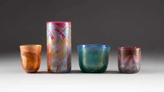 SET OF FOUR GLASS OBJECTS. Design: Germany, glass manufactory Schmid, 1990s - photo 1