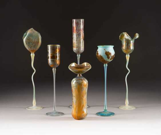 SET OF SIX GLASS OBJECTS. Design: Germany, glass manufactory Schmid, Karl and Wolfgang Schmid, among others, 1980s/1990s - photo 1