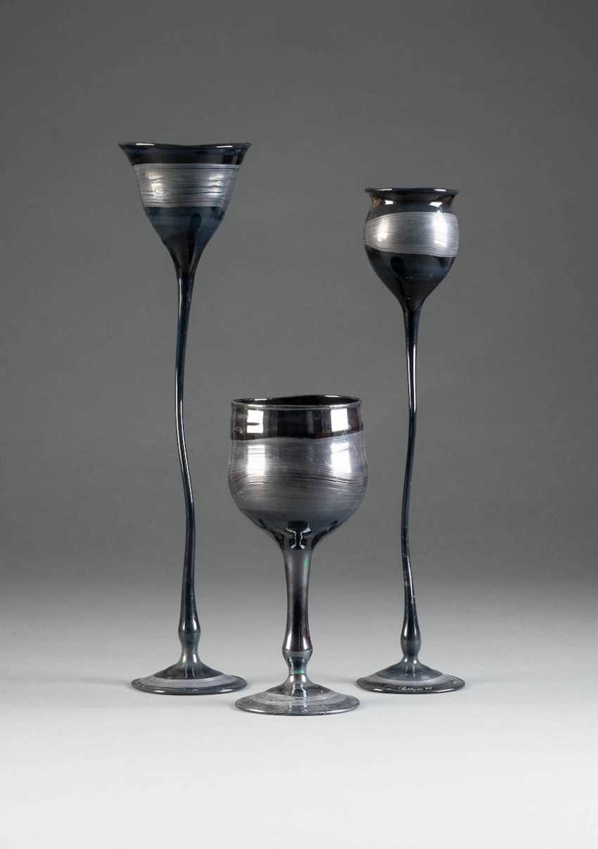 THEODOR G. SELLNER 1947 Zwiesel THREE MODERN glass objects. English, Version 1979 - photo 1