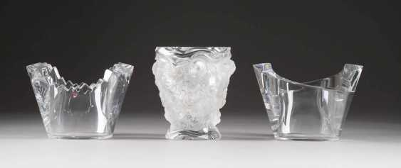 LOT OF THREE GLASS OBJECTS. Type: Sweden, Orrefors, among other things - photo 1
