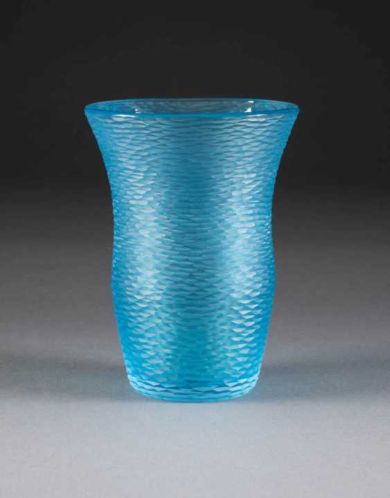 CARLO SCARPA in 1906, Venice - 1978, Sendai/Japan, SMALL VASE 'BATTUTO' (DESIGN 1940). Ausführng: Italy, Venini & C., at the end of the 20th century. Century - photo 1