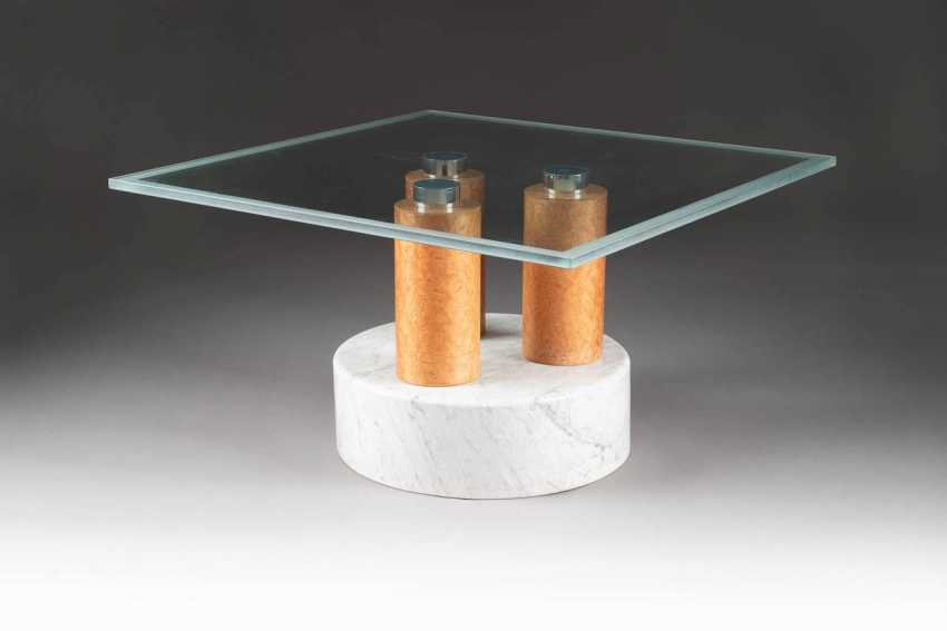 MATTEO THUN 1952 Bolzano (Italy). SIDE TABLE WITH GLASS TOP - photo 1