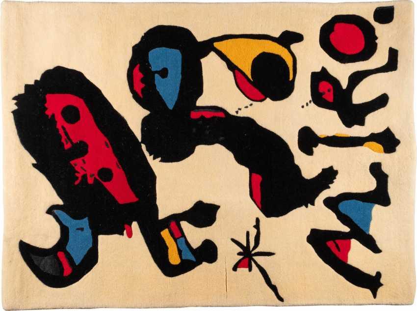 JOAN MIRÓ (NACH) 1893 Barcelona - 1983 Palma (Mallorca). KÜNSTLERTEPPICH 'LOOKED AT EXPO 80 - MEXICO' - photo 1