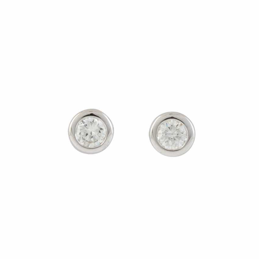 PAIR OF STUD EARRINGS WITH BRILLIANT-SOLITAIRE - photo 1
