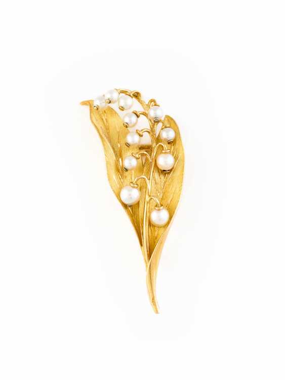 LILY OF THE VALLEY-BROOCH - LILY OF THE VALLEY - photo 1
