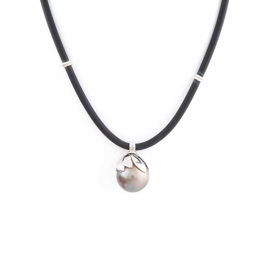NECKLACE WITH TAHITIAN PEARL - photo 1