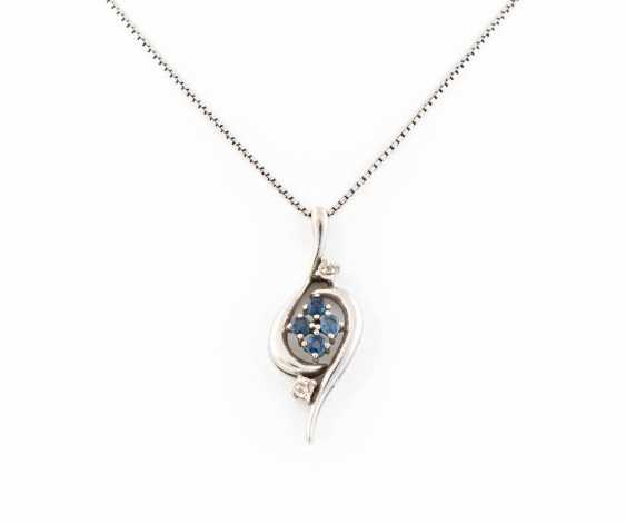 GEMSTONE PENDANT WITH CHAIN - photo 1