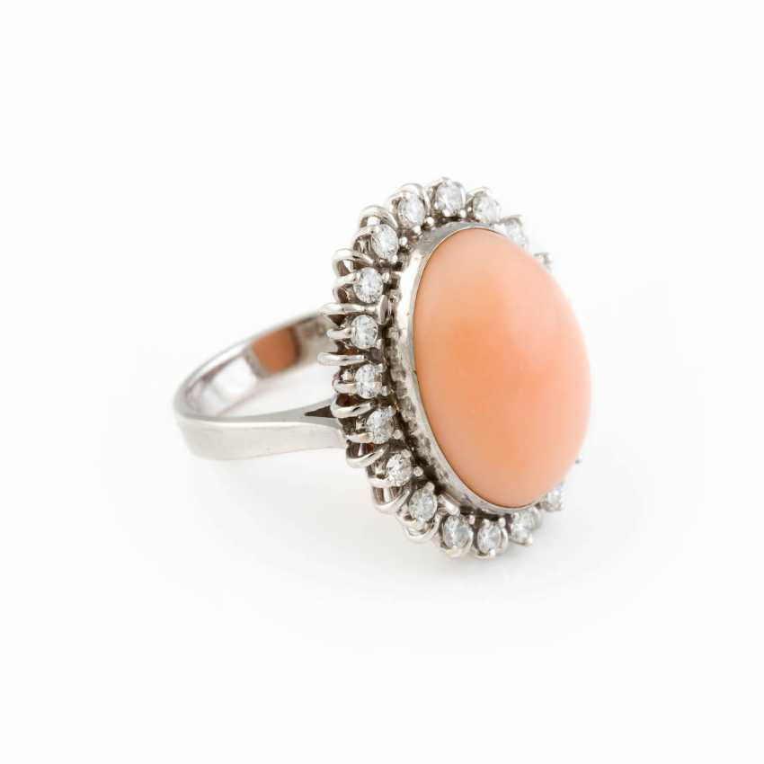 RING WITH ANGEL SKIN CORAL - photo 2