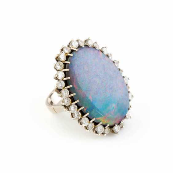 OPAL RING WITH DIAMONDS - photo 2