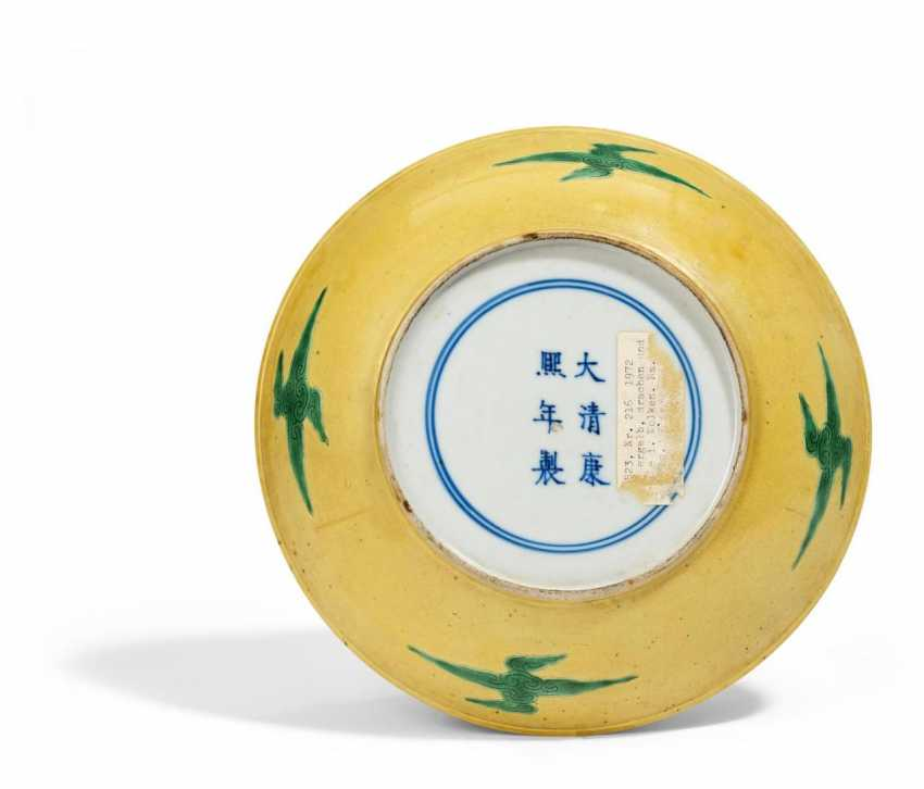 Yellow plate with dragon - photo 2