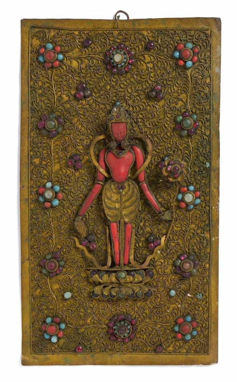 Rare panel with a standing Padmapani - photo 1