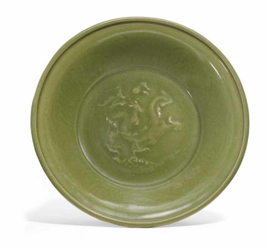 Large dish with dragon - photo 1