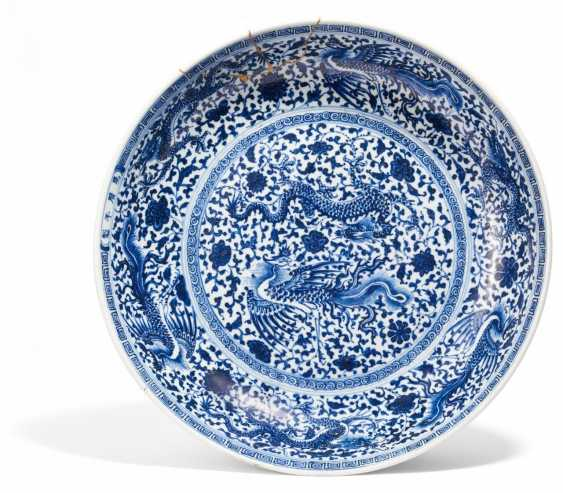 Large plate with dragon and Phoenix pairs - photo 1