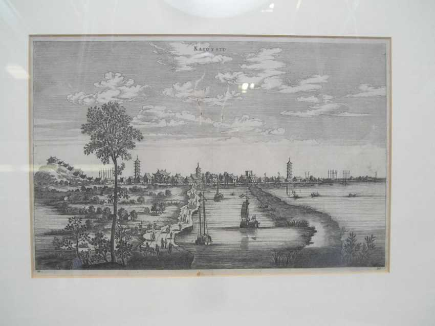 Eighteen copper engravings with views from China - photo 4