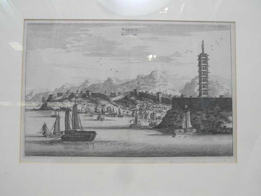 Eighteen copper engravings with views from China - photo 8