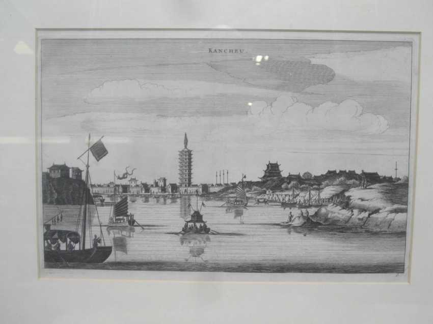 Eighteen copper engravings with views from China - photo 14