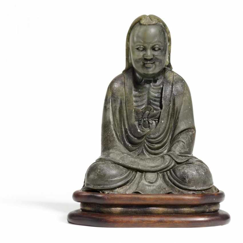 Extraordinary figure of Bodhidharma - photo 1