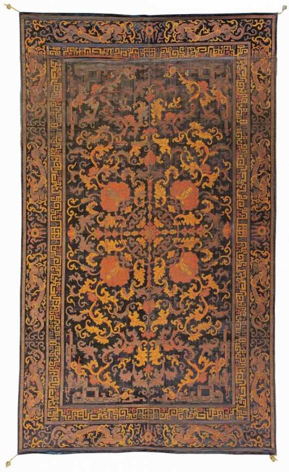 Rare Palace carpet for the kang with dragons and Lotus flowers - photo 1