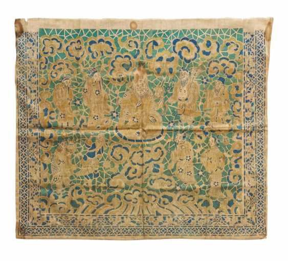 Rare altar apron with Shoulao and the Eight Immortals - photo 1