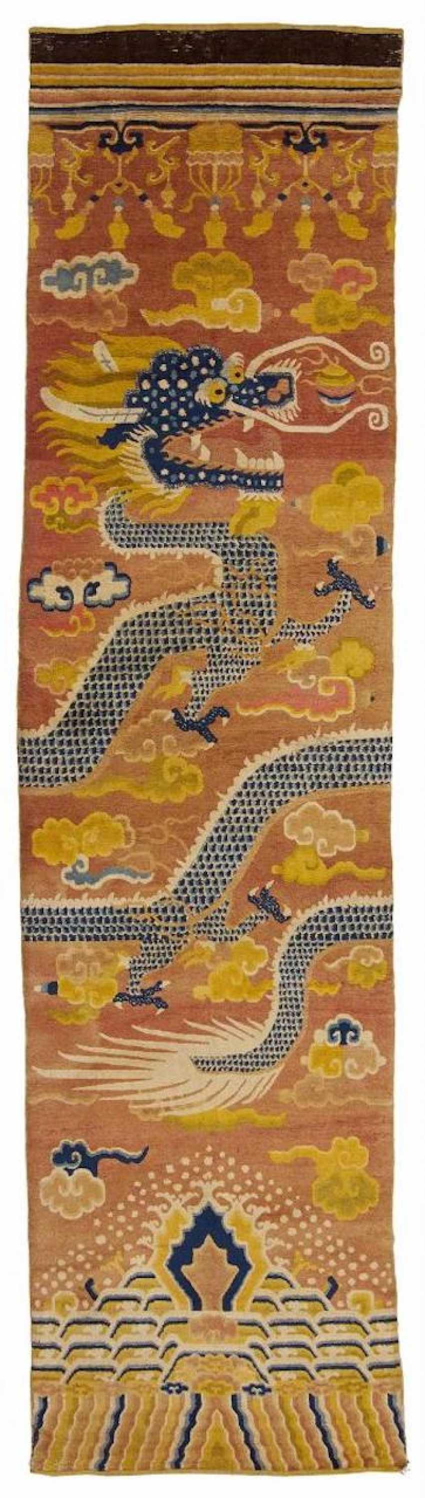 Rare Pair of pillar carpets with dragons - photo 2