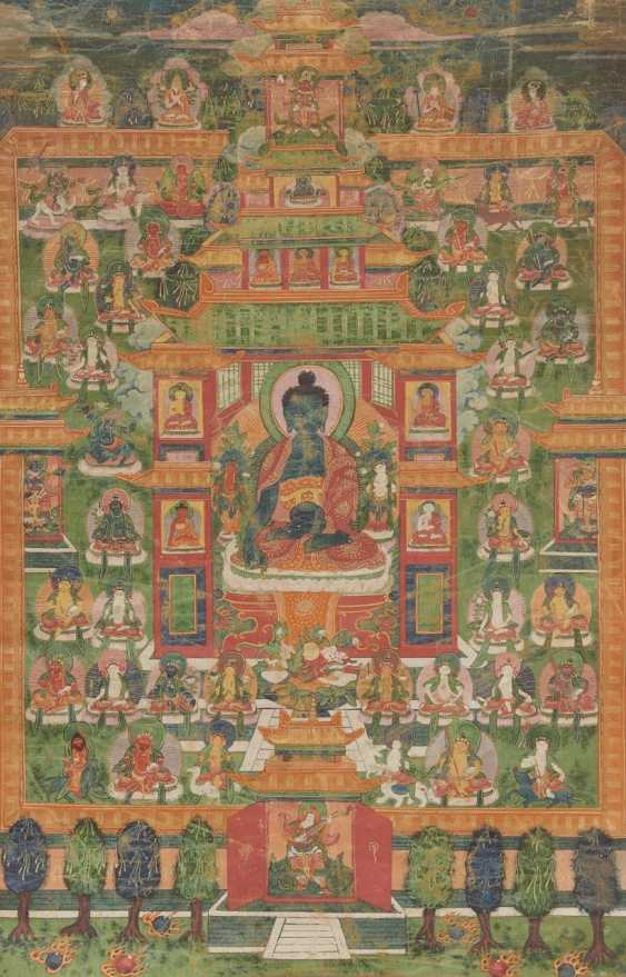 Thangka of the bhaisajya guru in the Palace of the Eastern Paradise - photo 1