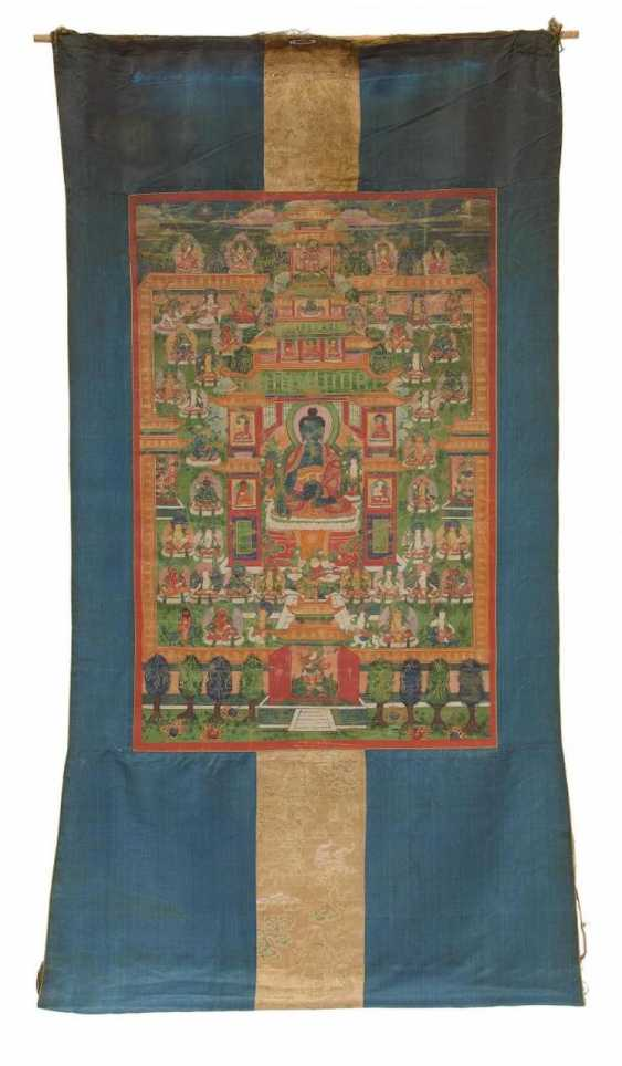 Thangka of the bhaisajya guru in the Palace of the Eastern Paradise - photo 2