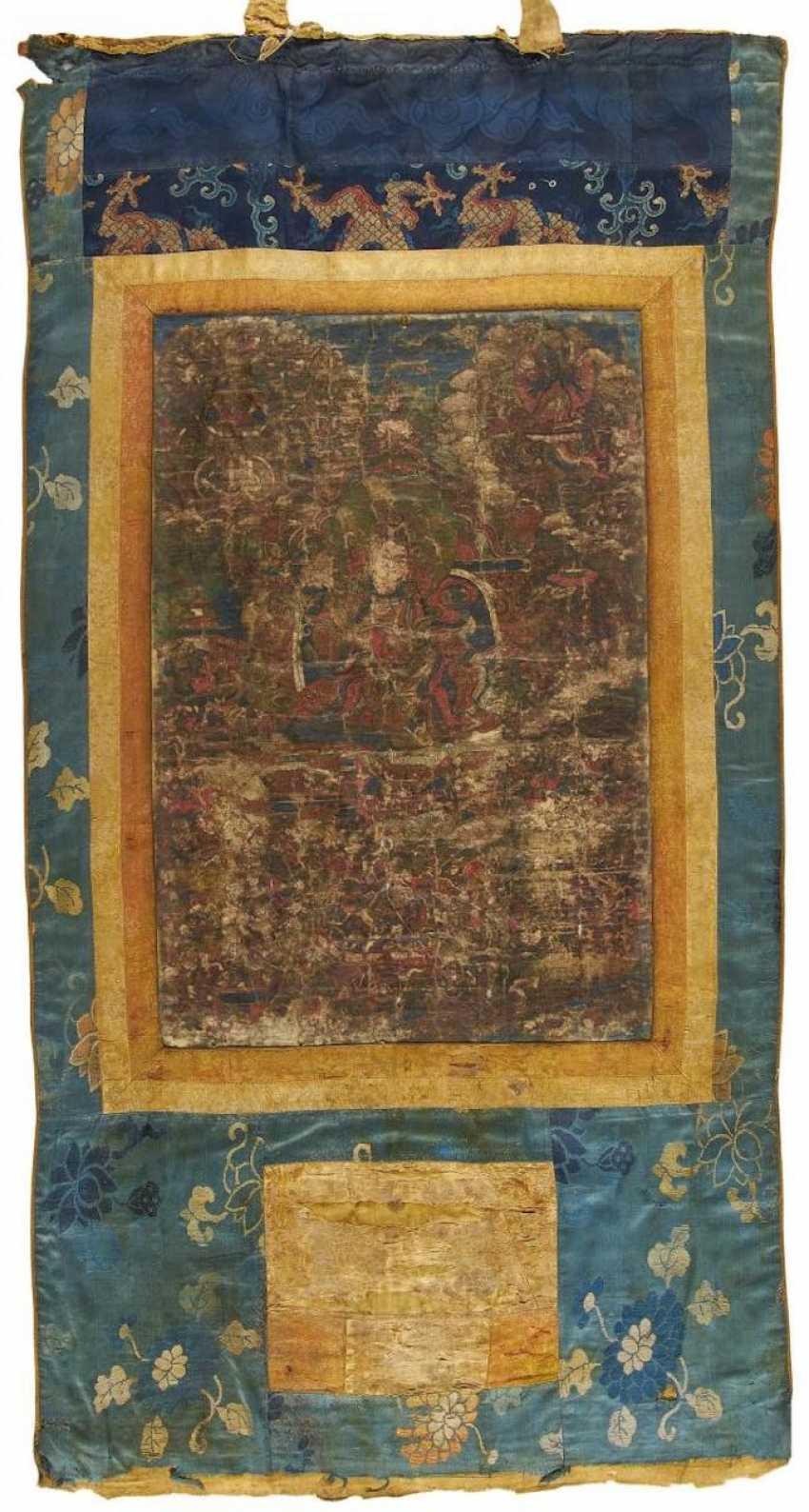 Thangka of the fighting Buddha king Rudracakrin - photo 1
