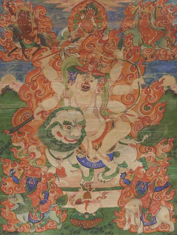 Seltenes Thangka des Pehar Gyalpo - photo 1