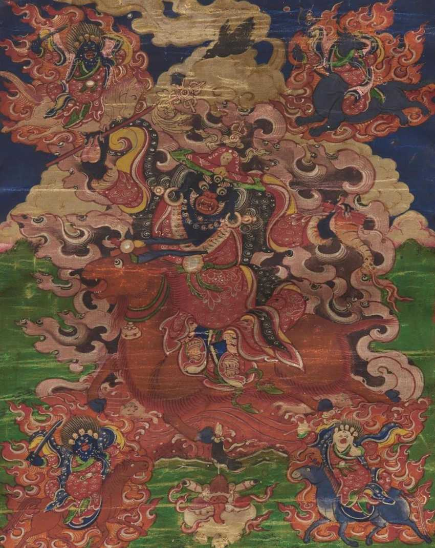 Rare Thangka of Damchen Garwa Nagpo - photo 1