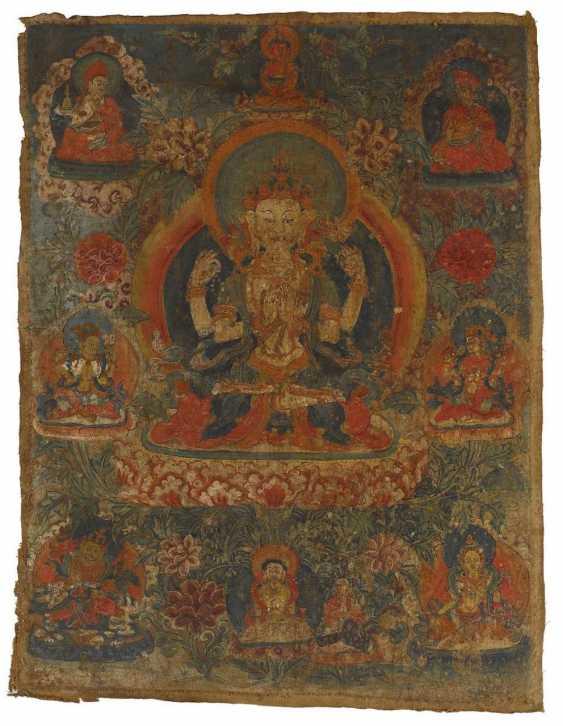 Thangka des vierarmigen Avalokiteshvara - photo 1