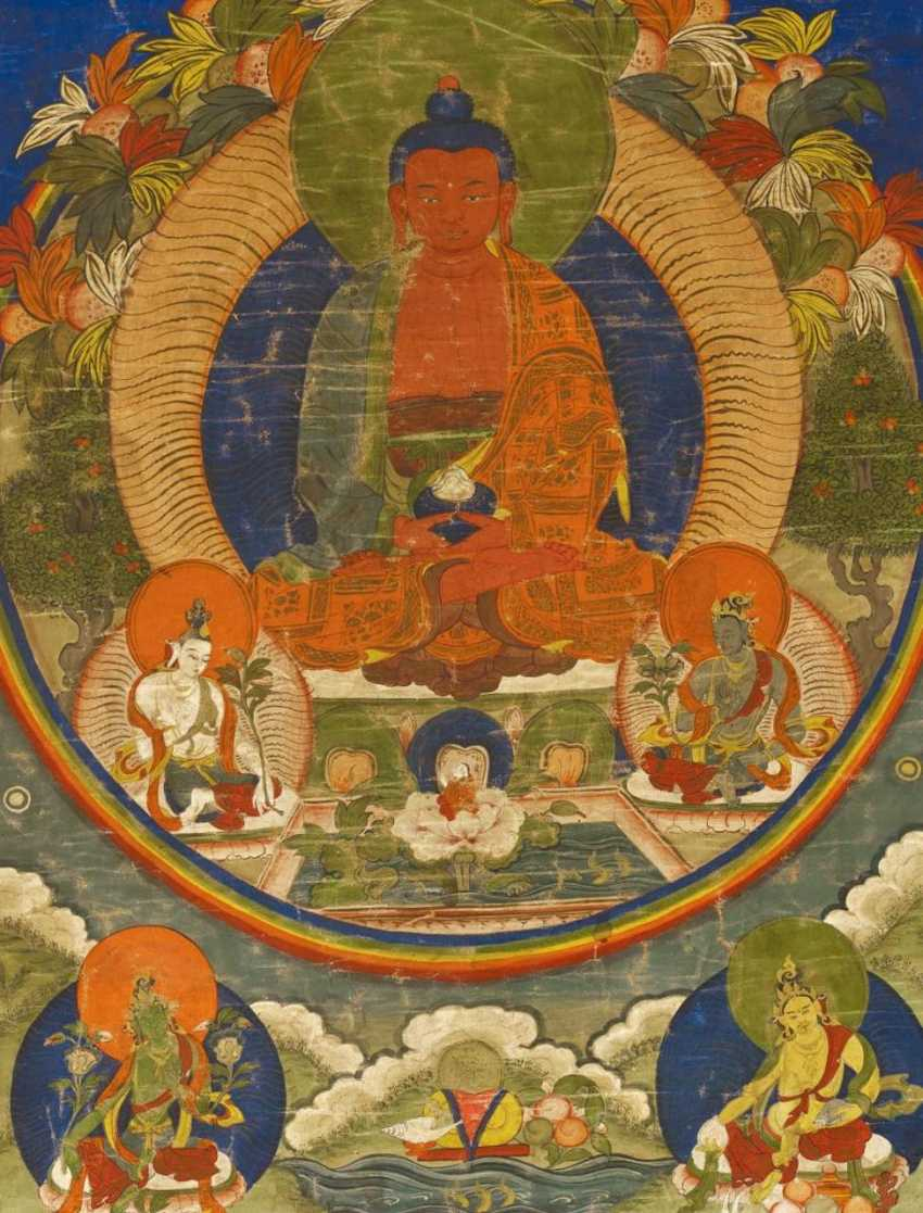 Thangka of the Buddha Amitabha in his Western Paradise - photo 1