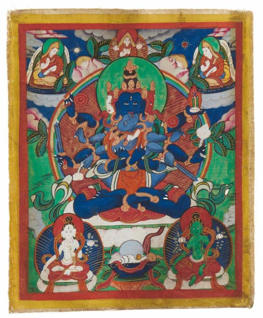 Two miniature Thangka and two Tsakli - photo 2