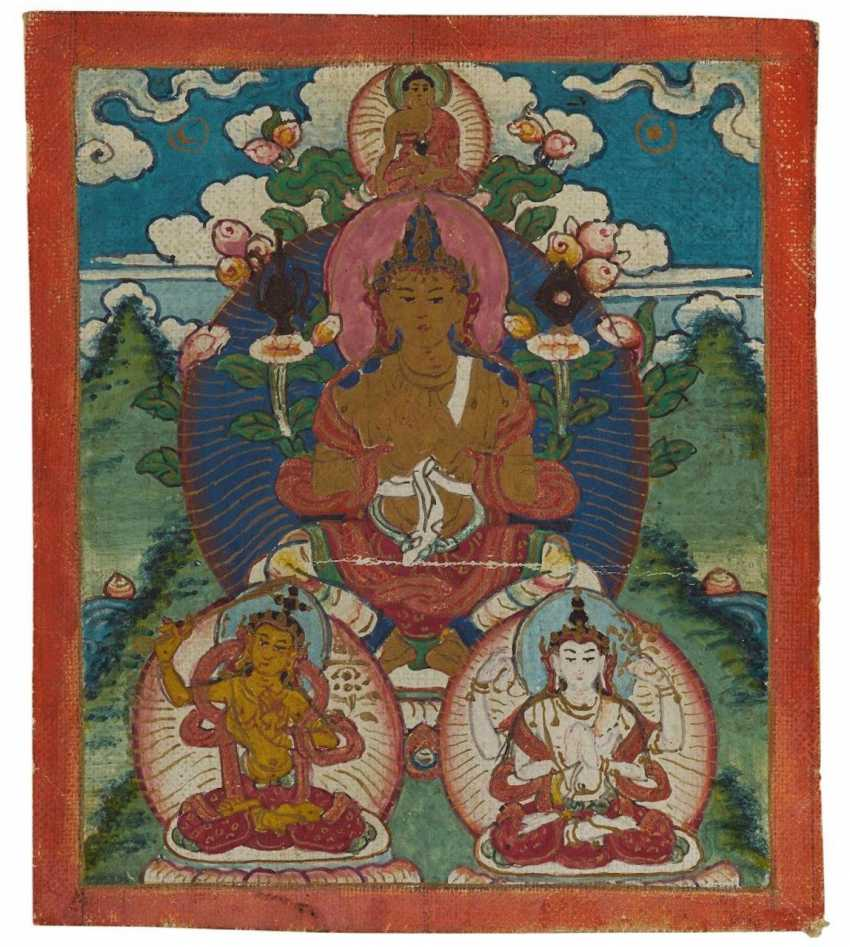 Two miniature Thangka and two Tsakli - photo 3