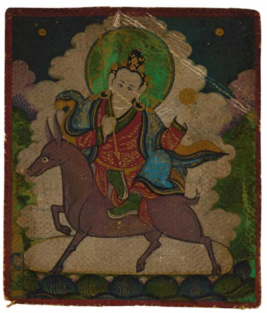 Two miniature Thangka and two Tsakli - photo 4