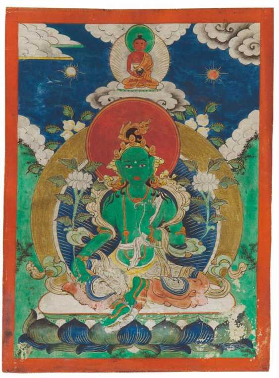 Two miniature Thangka and two Tsakli - photo 5