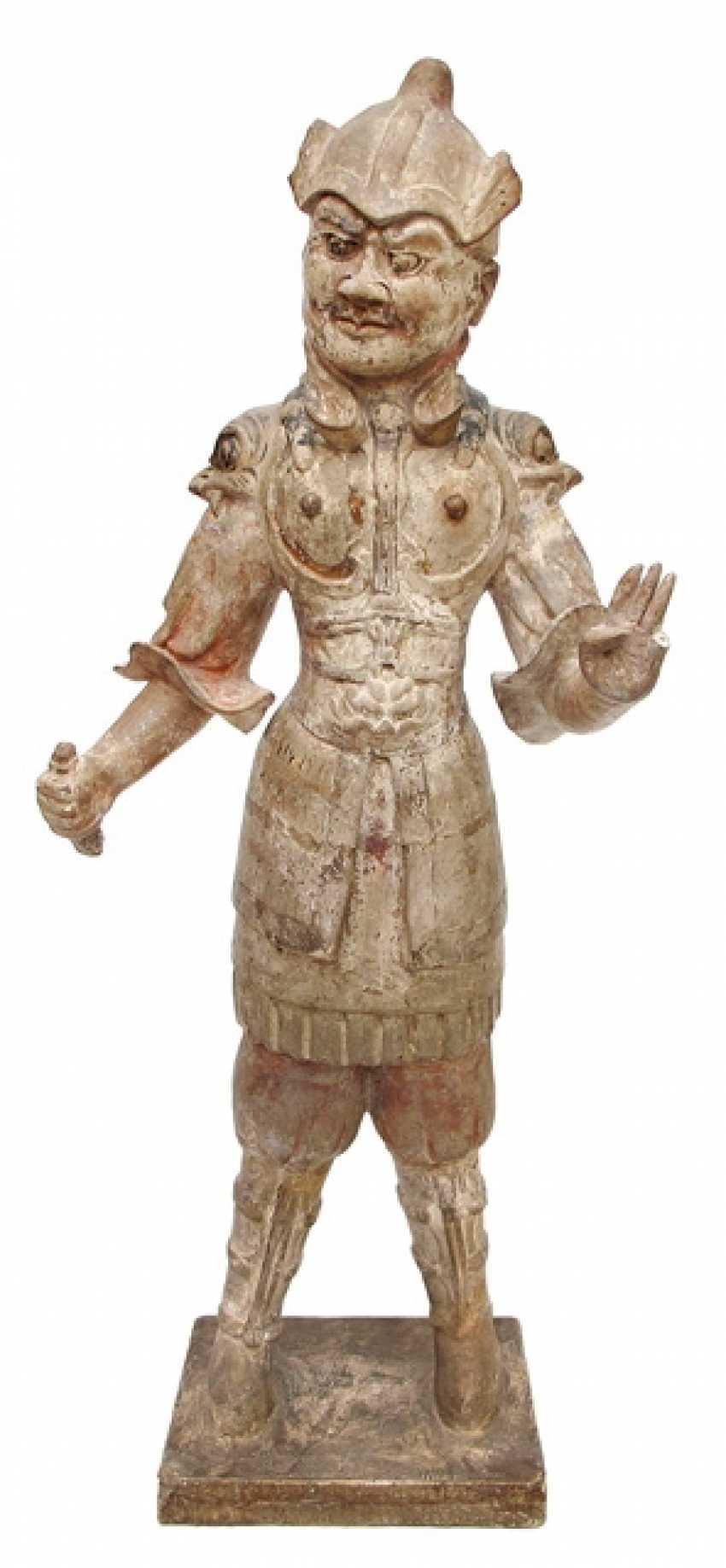 Figure of a Lokapala from Earthenware - photo 1