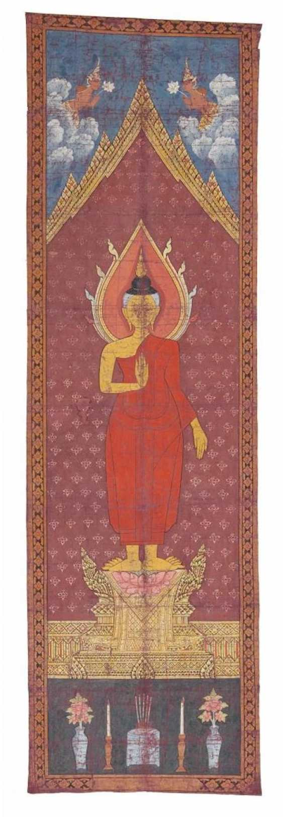 Rare long pa bai-hanging for a temple with Buddha - photo 1