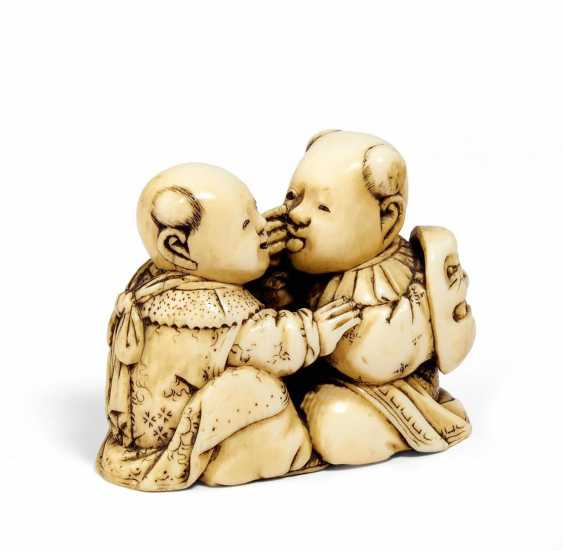 Netsuke: Two karako in bekkako - photo 1