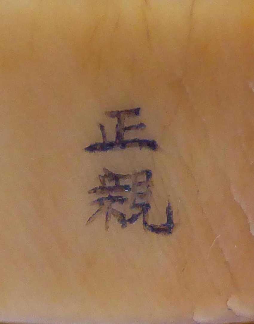 Netsuke: Two seals with Shishi - photo 3