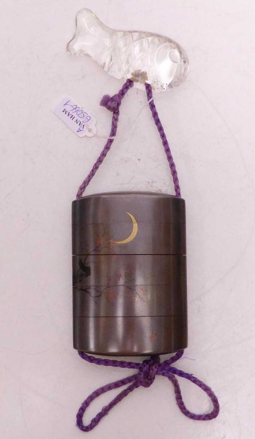 Inrô with Raven, Crescent moon, and maple - photo 3