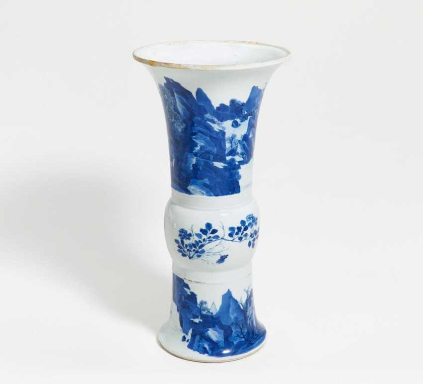 Great gu-shaped Vase with river landscape - photo 1