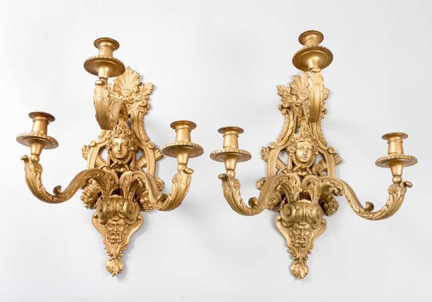Pair of Appliques in Louis XV character - photo 1