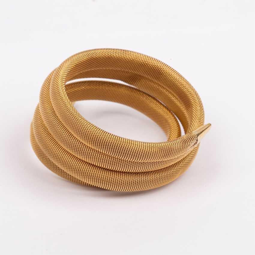Gold bracelet shaped like a snake with ruby - photo 4