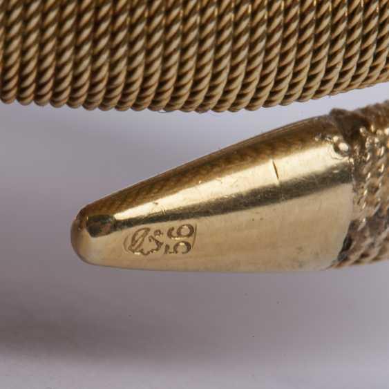 Gold bracelet shaped like a snake with ruby - photo 5