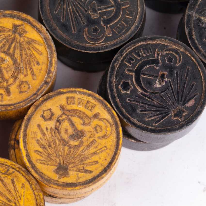 Chips for the game of checkers, USSR, 1930-40-ies. - photo 2