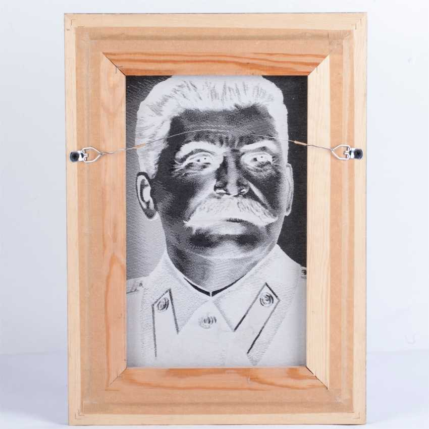 The Portrait Of Stalin. Screen printing. China - photo 4